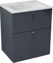 Sapho MITRA umyvadlová skříňka 59, 5x70x45, 2 cm, antracit MT062