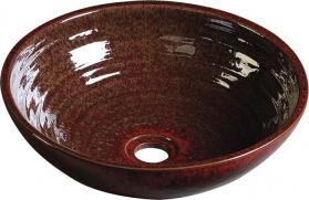 Sapho ATTILA keramické umyvadlo, průměr 42, 5 cm, purpurově červená DK003