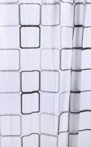 Aqualine Sprchový závěs 180x180cm, vinyl, čtvercový vzor ZV013