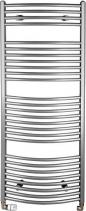Aqualine ORBIT otopné těleso s bočním připojením 450x1330 mm, 545 W, metalická stříbrná ILA34
