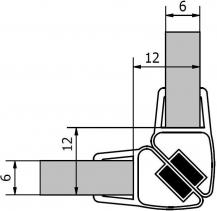 Polysan Sada dvou těsnění (magnet) na 6mm sklo, 2000mm, varianta roh M126