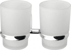 Aqualine RUMBA dvojitý držák skleniček, mléčné sklo RB105