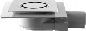 Omp Tea TIRANA podlahová vpust boční 100x100 mm, odpad 50mm, chrom 2665.295.8