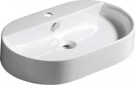 Kerasan RING keramické umyvadlo 65x12x40cm, na desku 028501