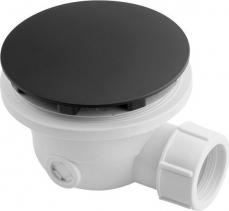 Polysan Vaničkový sifon, průměr otvoru 90 mm, DN40, krytka černá mat 1711B
