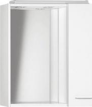 Aqualine ZOJA/KERAMIA FRESH galerka s LED osvětlením, 60x60x14cm, bílá, pravá 45022