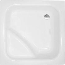 Polysan VISLA hluboká sprchová vanička, čtverec 80x80x27cm, bílá 50111