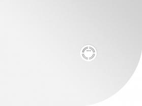Polysan FLEXIA vanička z litého mramoru čtvrtkruh, s možností úpravy rozměru, 90x80x2, 5cm, R550, levá 91191