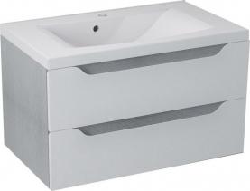 Sapho WAVE umyvadlová skříňka 79, 7x45x47, 8cm, bílá/dub stříbrný WA082