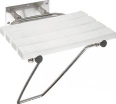 Sapho Sklopné sprchové sedátko s opěrnou nohou, bílá (301102181) XH001