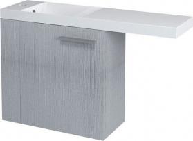 Sapho LATUS VI umyvadlová skříňka 50x50x22cm, levá, dub stříbrný 55825