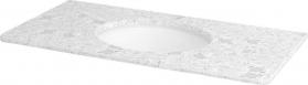 Sapho WESTERN deska technický mramor 99x2x51cm vč. keramického um. TP211, 1219 Calacatta WR101-1219