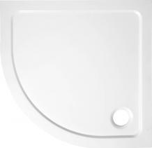 Aqualine TECMI sprchová vanička z litého mramoru, čtvrtkruh 80x80x3 cm, R55 PQ558