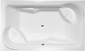 Polysan DUO obdélníková vana 200x120x45cm, bílá 16111