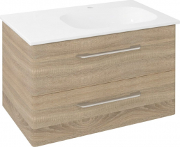 Sapho PURA umyvadlová skříňka 77x50, 5x48, 5cm, pravá, dub starmood PR088