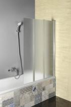 Aqualine VANDA vanová zástěna skládací 1000x1400 mm, chrom, sklo brick AQ1140