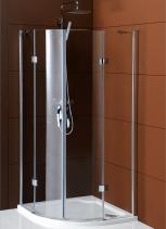 Gelco LEGRO čtvrtkruhová sprchová zástěna dvoukřídlá 1000x1000mm, čiré sklo GL5510
