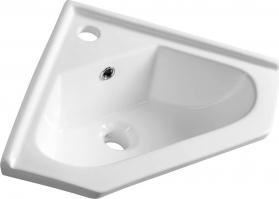 Aqualine Keramické umyvadlo rohové 41x18x41cm, nábytkové 1601-40