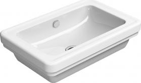 GSI CLASSIC keramické umyvadlo na desku 60x40 cm, bílá ExtraGlaze 874911