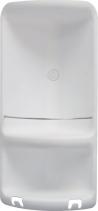 Gedy CAESAR dvoupatrová rohová polička do sprchy 226x473x160 mm, ABS plast, bílá 7080