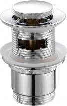 """Aqualine Umyvadlová výpust 5/4"""", click-clack, malá zátka, tl.30-45mm, chrom TF8001"""