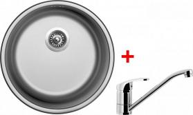 Nerezový dřez Sinks ROUND 450 V+PRONTO RO450VPRCL