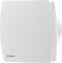 Sapho LEX koupelnový ventilátor axiální s časovačem, 15W, potrubí 100mm, bílá LX102