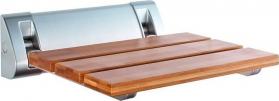 Aqualine Sklopné sedátko do sprchového koutu 32x32, 5cm, bambus AE236