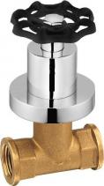 Reitano Rubinetteria INDUSTRY podomítkový ventil, studená, chrom/černá 505TTC