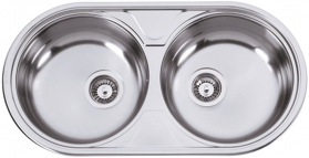 Nerezový dřez Sinks DUETO 847 M 0,6mm matný RDDUM8474446M