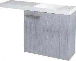 Sapho LATUS VI umyvadlová skříňka 50x50x22cm, pravá, dub stříbrný 55820
