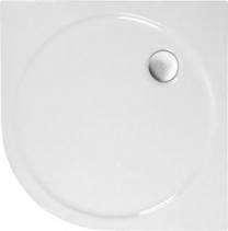 Polysan SONATA sprchová vanička akrylátová, čtvrtkruh 80x80cm, R550, bílá 56411