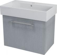Sapho NATY umyvadlová skříňka 66, 5x50x40cm, dub stříbrný NA073