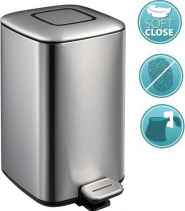 Sapho REGENT odpadkový koš 12l, Soft Close, nerez mat DR502