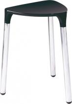 Gedy YANNIS koupelnová stolička 37x43, 5x32, 3 cm, černá 217214