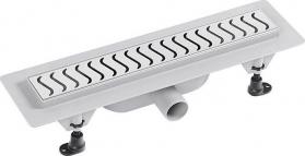 Polysan SCENE plastový sprchový kanálek s nerezovým roštem, 455x123x68 mm 72835