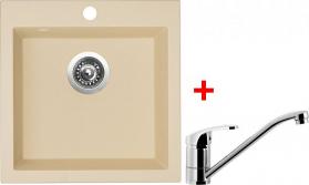 Granitový dřez Sinks VIVA 455 Sahara+PRONTO VIV50PRCL