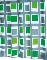 Ridder UP DOWN sprchový závěs 180x200cm, polyester, zelená 42935