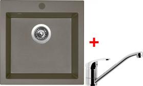 Granitový dřez Sinks VIVA 455 Truffle+PRONTO VIV54PRCL