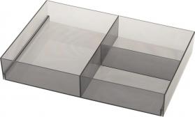 Sapho Organizér do zásuvky, 202x50x302 mm, plast, kouřová 909