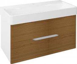 Sapho MEDIENA umyvadlová skříňka 96, 5x50, 5x48, 5cm, bílá mat/dub natural MD102