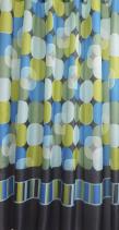 Aqualine Závěs 180x200cm, 100% polyester, kruh - mix barev 23034