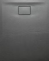 Sapho ACORA vanička z litého mramoru, obdélník 100x80x3, 5cm, šedá, dekor kámen AC023