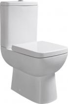 Sapho TYANA SHORT WC kombi krátké + sedátko, zadní odpad, bílá 72200E