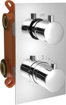 Sapho KIMURA podomítková sprchová termostatická baterie, box, 2 výstupy, chrom KU382