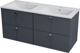 Sapho MITRA dvojumyvadlová skříňka 119, 6x55x45, 2 cm, antracit MT122