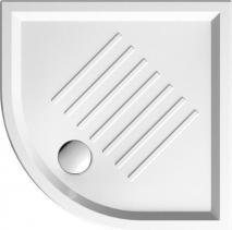 GSI Keramická sprchová vanička, čtvrtkruh 90x90x6cm, R550 349711
