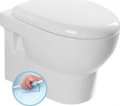 Aqualine ABSOLUTE závěsná WC mísa, Rimless, 50x35 cm, bílá 10AB02002