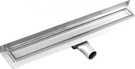 Gelco MANUS PIASTRA nerez sprchový kanálek s roštem pro dlažbu, ke zdi, 850x112x55 mm GMP94
