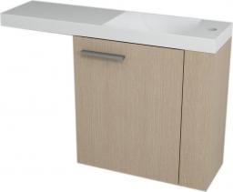 Sapho LATUS VI umyvadlová skříňka 50x50x22cm, pravá, Dub benátský 55880
